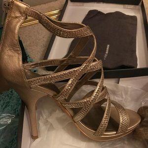 Gold Strappy Stiletto